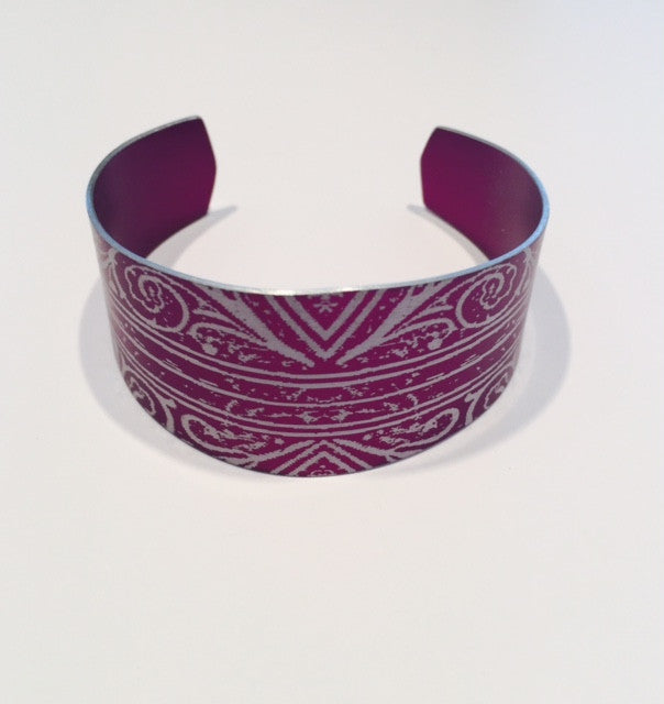 Purple Cuff Bangle