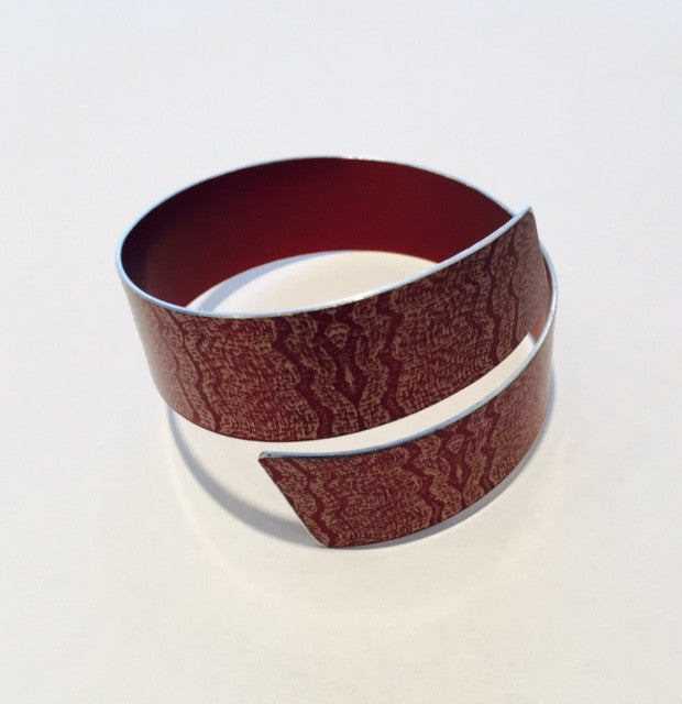 Bronze Linen Futures Strip Bangle