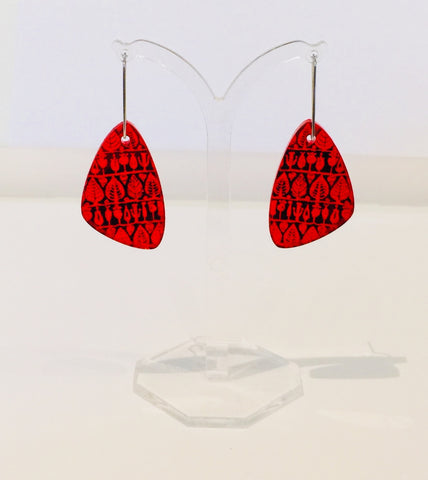 Acrylic Earrings (Vermilion)