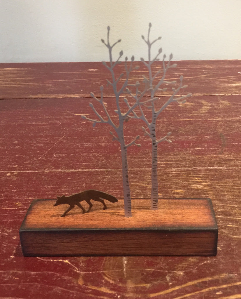 Miniature Fox & Silver Birch 2