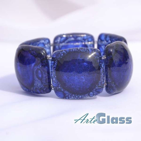 Bubble Square Bracelet (Dark Blue)