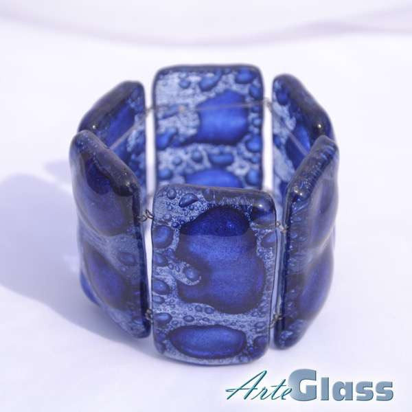 Bubble Chunky Bracelet (Dark Blue)