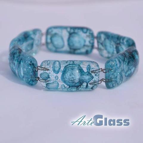 Narrow Bubble Bracelet (Turquoise)
