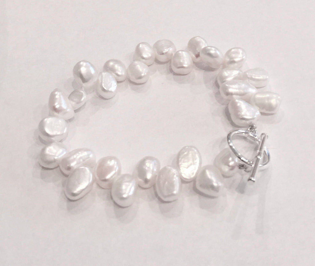 Side-drilled Pearl Bracelet