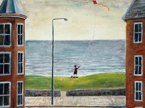 Sally Always Liked to Fly Her Kite  (Giclee Print) (PR17)