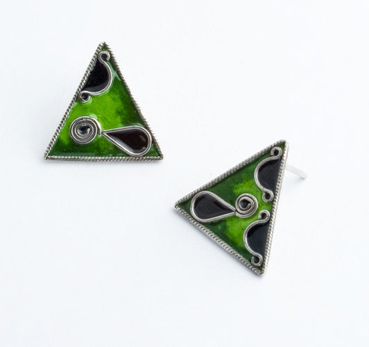 Enamel and Silver Earrings 5