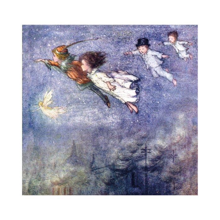 Peter and the Children Flying Through the Night (card)