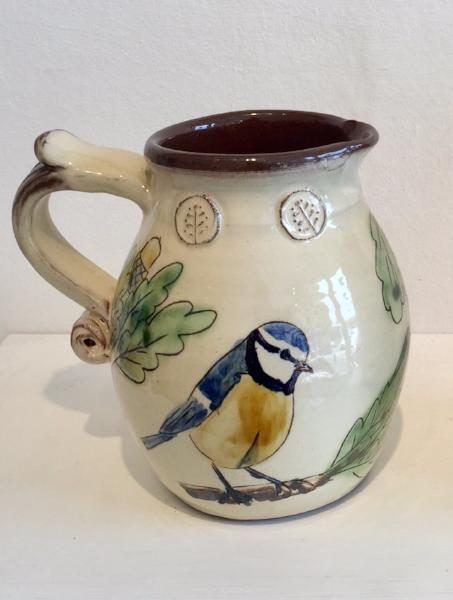 Medium Blue Tits Jug 2