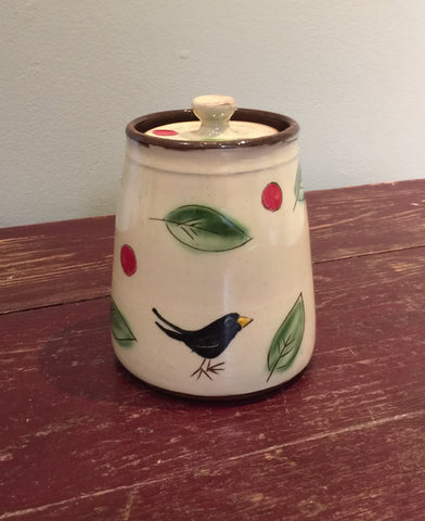 Blackbird Lidded Pot