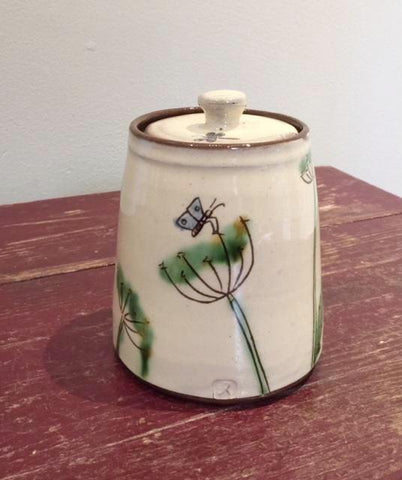 Dill & Butterfly Lidded Pot
