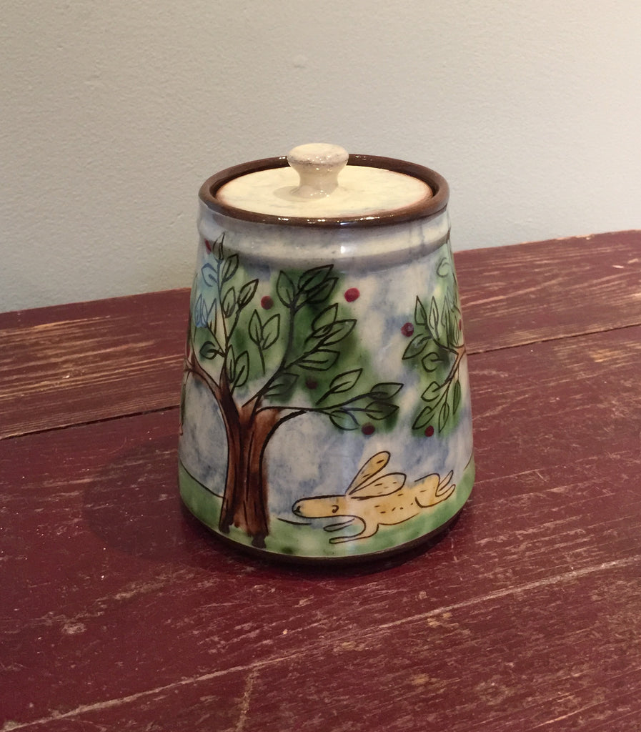 Landscape Lidded Pot