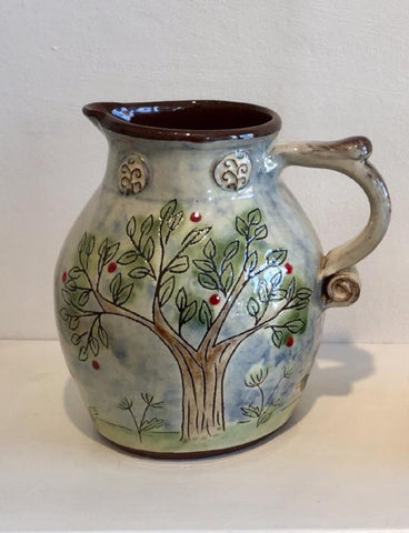 Large Trees Jug with Blackbirds