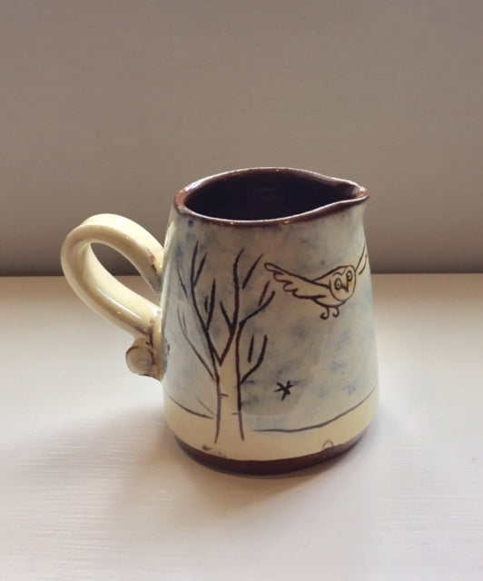 Small Trees Night Owl Jug with Fox