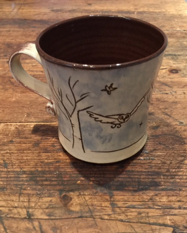 Trees Mug with Owl  (large)
