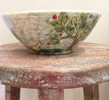 Landscape Bowl with Bird & Trees (medium)
