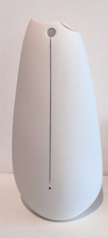 Tall White Vase with Blue Line