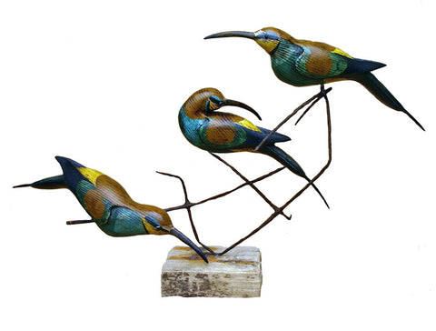 Three Bee Eaters