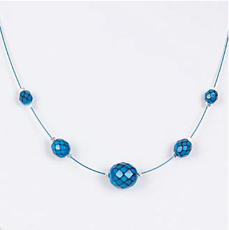 Serpentine Necklace (Teal)