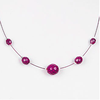 Serpentine Necklace (Fuchsia)