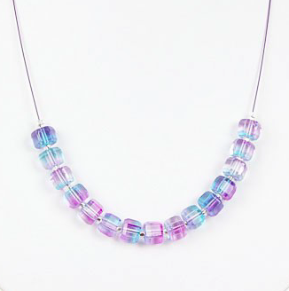 Geo Gems Necklace (Blueberry)