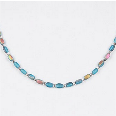 Dainty Dash Necklace (Ocean)
