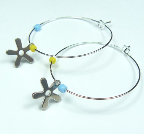 Sea Star Hoop Earrings