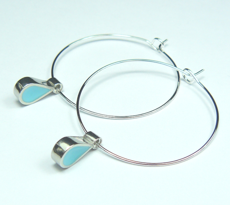 Summer Rain Hoop Earrings (Turquoise)