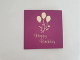 Balloons Box Birthday Card