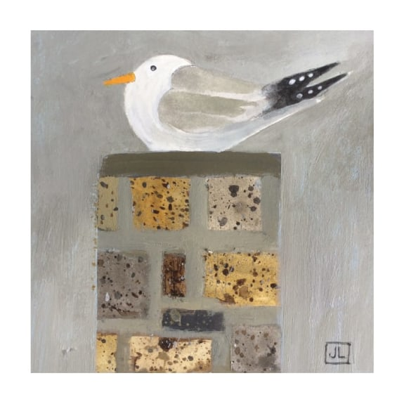 Seagull on a Chimney Stack, St Ives (card)