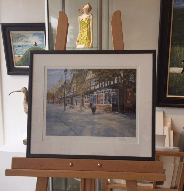 The Shops, Bournville (Framed Print) 6/150