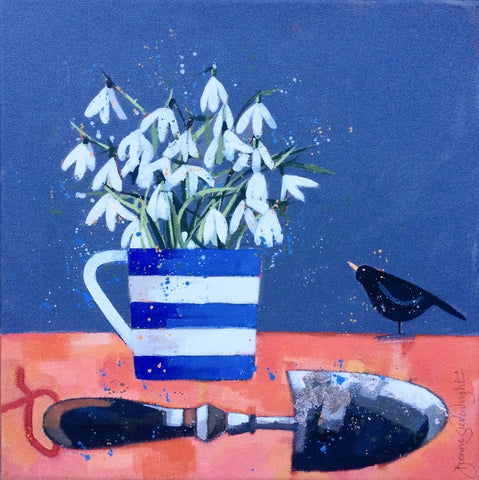 Snowdrops and Blackbird