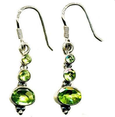 Peridot & Silver Hook Earrings (1)
