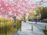 The Purple Lamp Post, Bournville Lane (Framed Print) 5/150