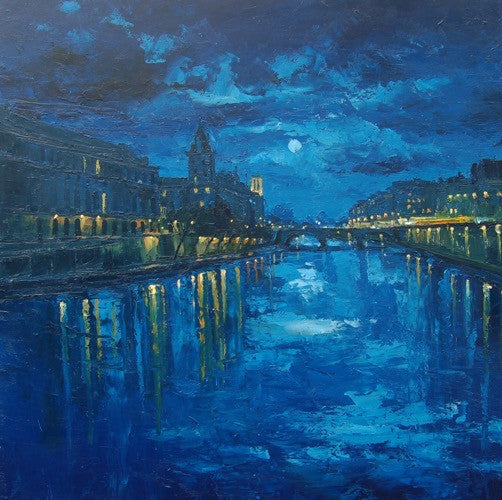 The Seine in Moonlight