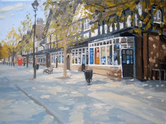The Shops, Bournville (Giclee Print)