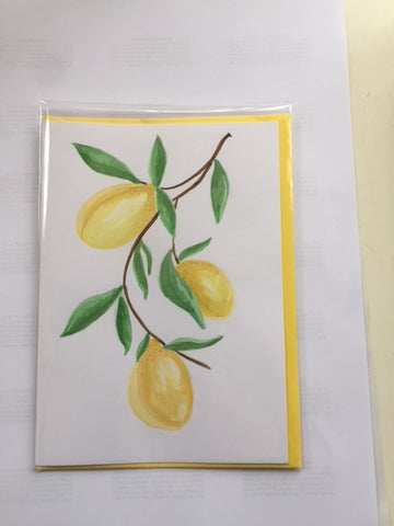 Three Lemons (card)