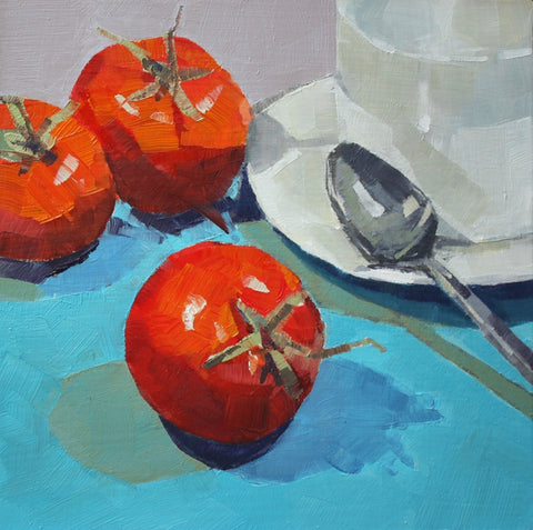 Tomatoes with Teacup and Saucer