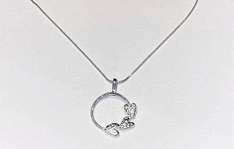 Triple Heart Circle Pendant
