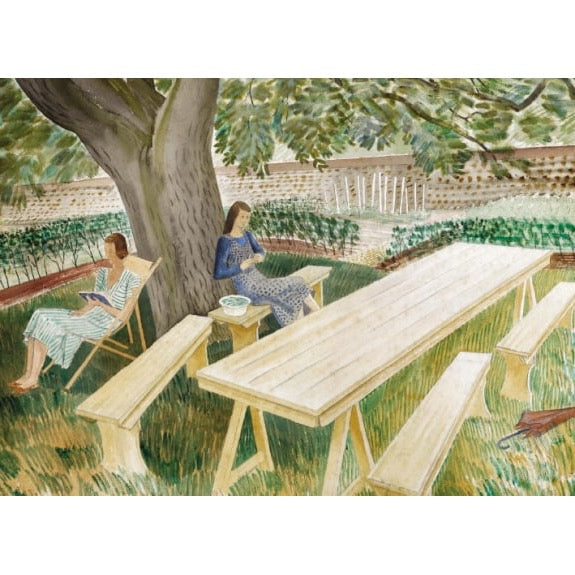 Two Women Sitting in a Garden (card)