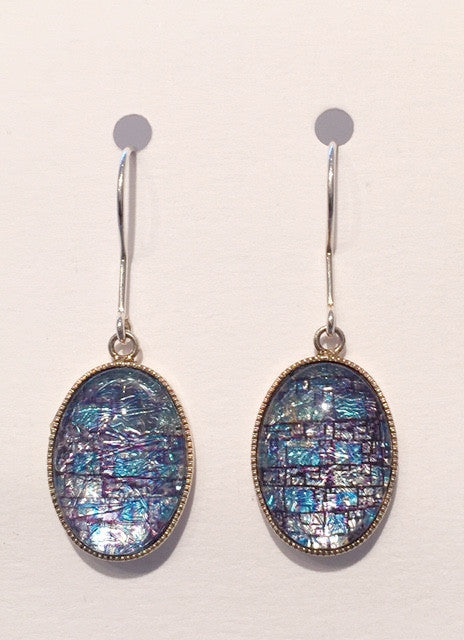 Blue Mosaic Earrings