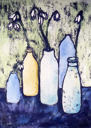 Snowdrops in Bottles