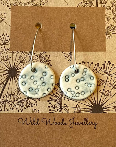 Ceramic Hook Earrings (large)
