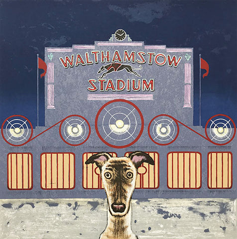 Wes Anderson's Dog - Walthamstow Stadium (22/50) framed