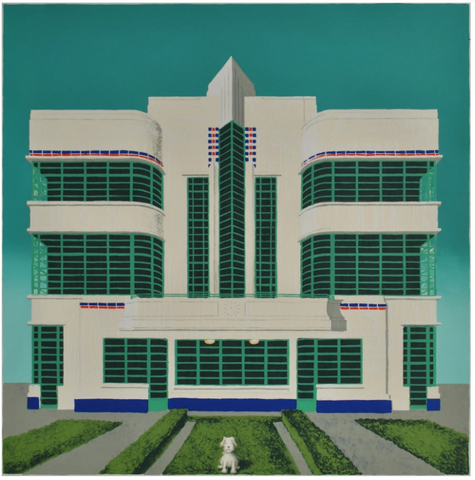 Wes Anderson's Dog - Hoover Building (20/50) framed