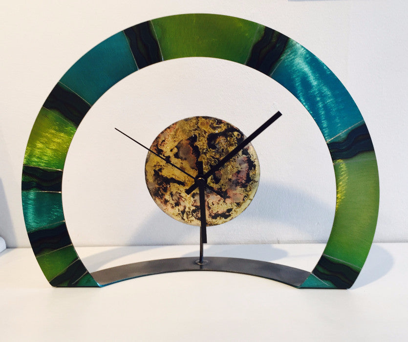 Hoop Clock (blue/green)