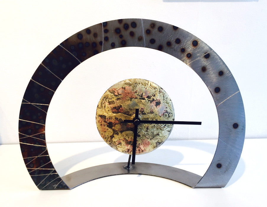 Hoop Clock (metal finish with black dots/scored lines)