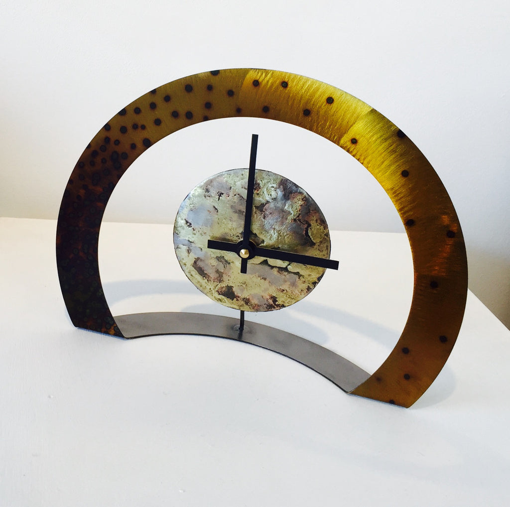 Hoop Clock (Gold with Black Spots)