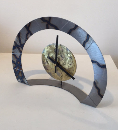 Hoop Clock (Metal with Criss-Cross)