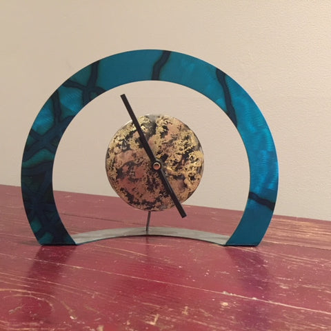 Hoop Clock (Turquoise with Criss-Cross )
