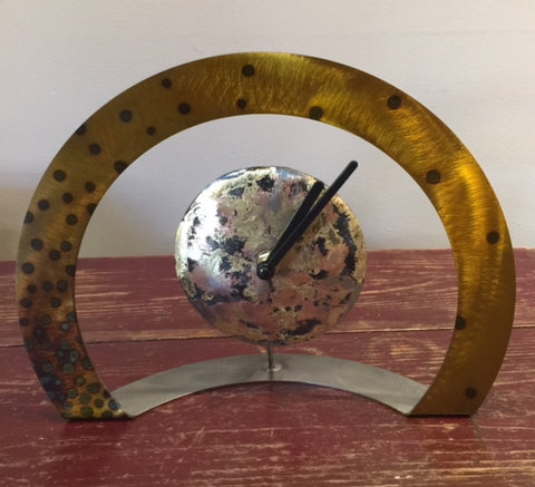 Hoop Clock (Gold with Black Dots)